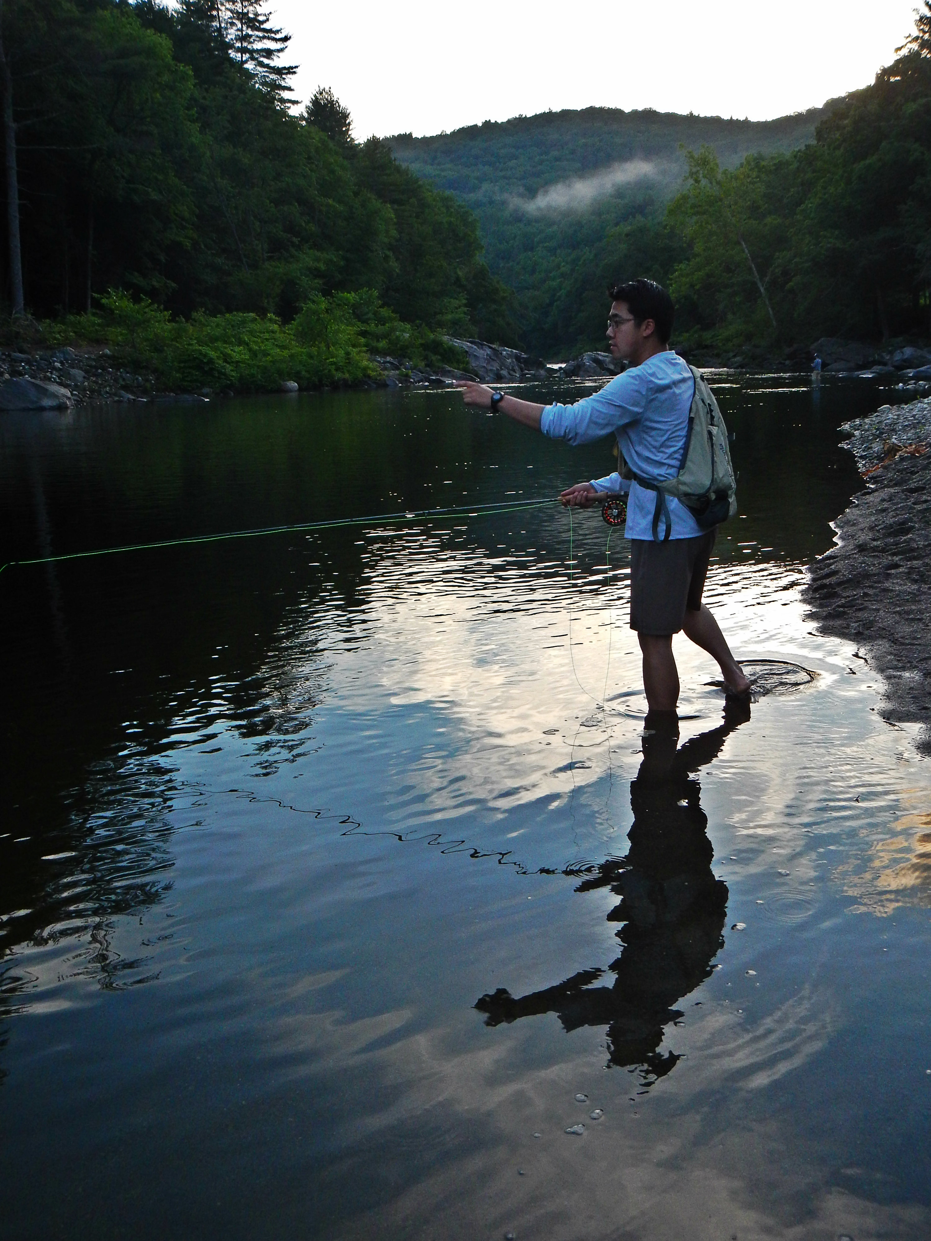 Guiding ted on the deerfield river for Deerfield river fly fishing