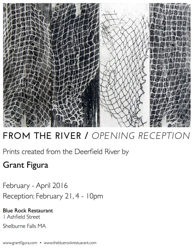 Blue Rock Opening Reception Poster
